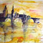 Prag Karlsbrücke - 40x50